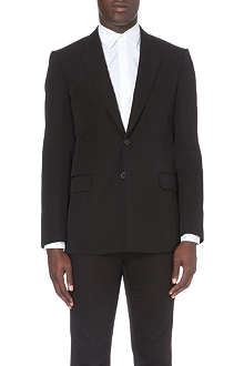 GIVENCHY Band-detail wool suit jacket