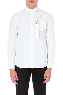 GIVENCHY Cuban zip-detail cotton shirt