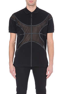 GIVENCHY Mesh-panelled polo shirt