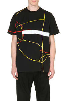 GIVENCHY Basketball court-print t-shirt