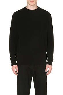 GIVENCHY Contrast-panel wool sweatshirt