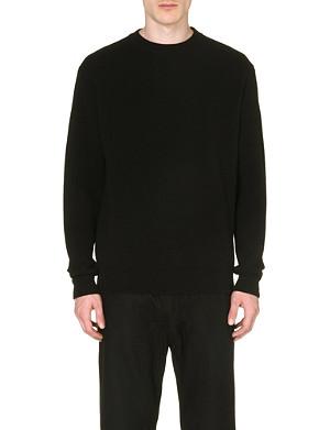GIVENCHY Contrast-panel wool sweatshirt