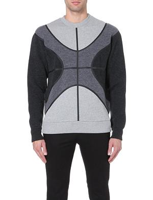 GIVENCHY Basketball cotton and wool-panel sweatshirt