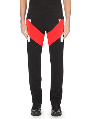 GIVENCHY Panelled cotton-jersey jogging bottoms