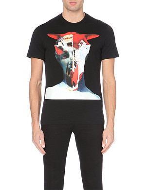 GIVENCHY Skull + Statue Cuban-fit cotton-jersey t-shirt