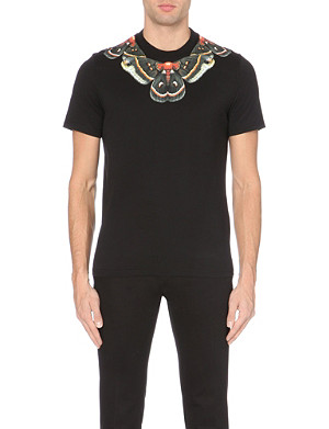 GIVENCHY Butterfly-neck Cuban-fit cotton-jersey t-shirt