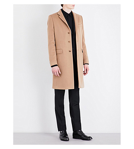 GIVENCHY Wool and cashmere-blend coat (Beige