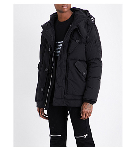 GIVENCHY Quilted shell coat (Black