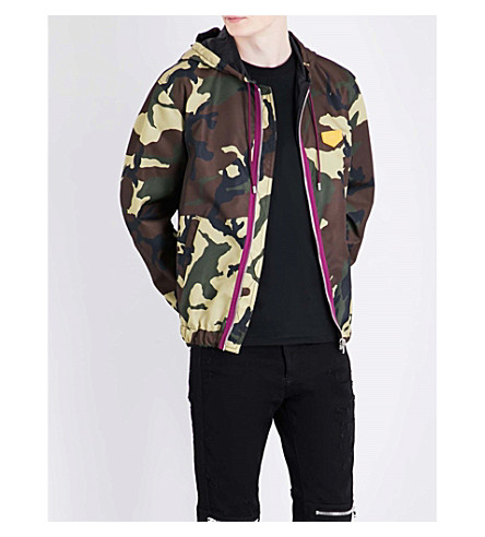 GIVENCHY Camouflage-print shell jacket (Green