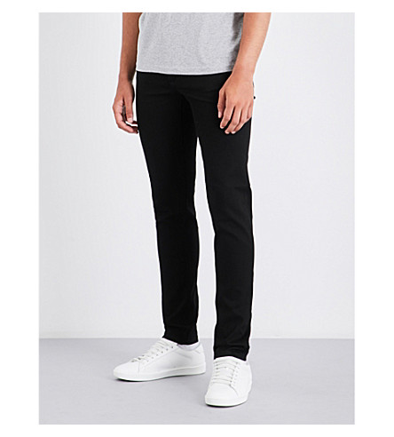 GIVENCHY Star-embroidered straight mid-rise jeans (Black