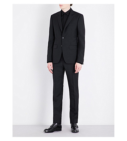 GIVENCHY Slim-fit wool and mohair-blend suit (Black