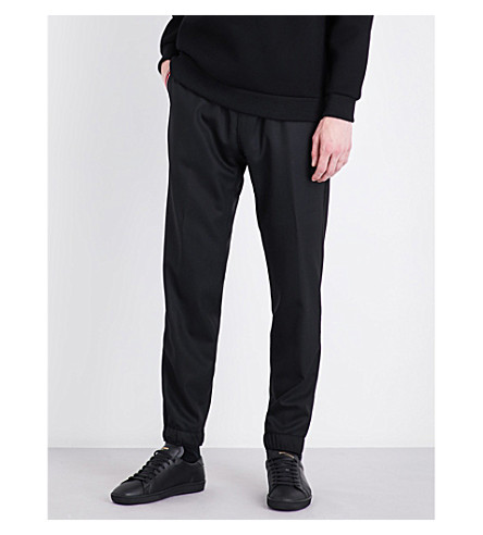 GIVENCHY Tailored stretch-wool jogging bottoms (Black