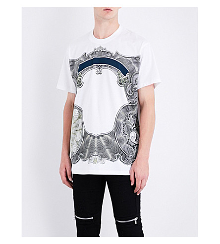 GIVENCHY Money-print cotton-jersey T-shirt (White