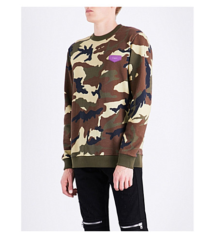 GIVENCHY Camouflage cotton-jersey sweatshirt (Green