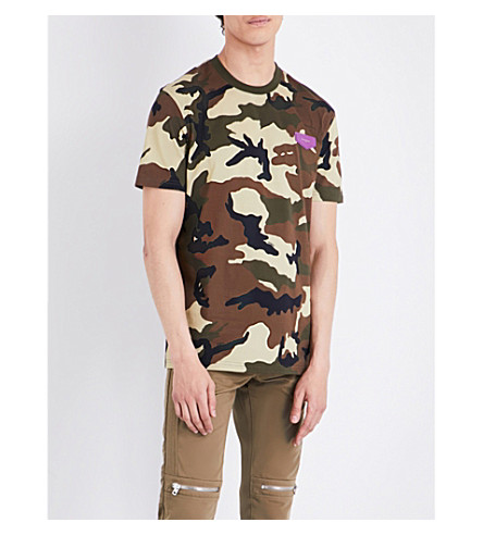 GIVENCHY Camouflage cotton T-shirt (Green