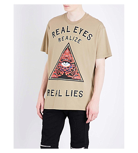 GIVENCHY Triangle cotton T-shirt (Light+khaki