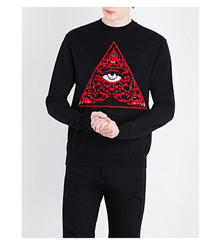 GIVENCHY Triangle wool-blend jumper (Black