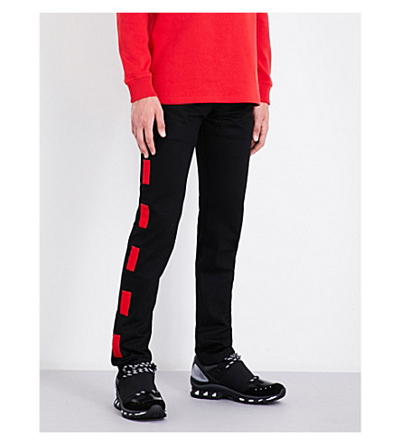 GIVENCHY Patch-detail straight mid-rise jeans (Black