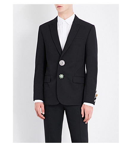 GIVENCHY Button-embellished twill jacket (Black