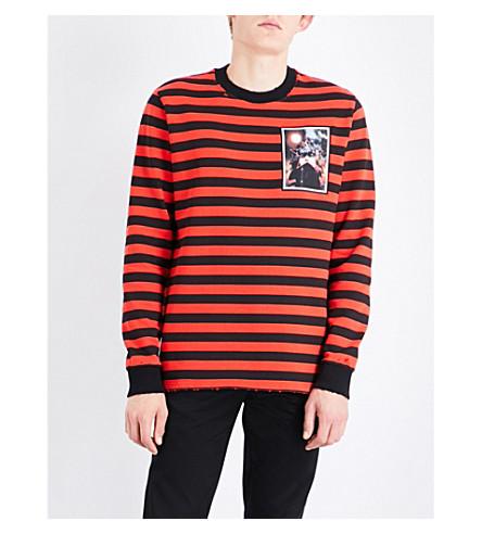 GIVENCHY Striped cotton-jersey sweatshirt (Black