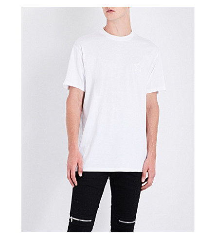 GIVENCHY Star-print cotton-jersey T-shirt (White