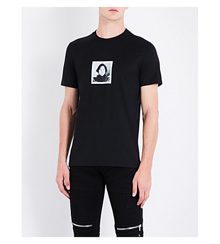 GIVENCHY Face-print cotton-jersey T-shirt (Black