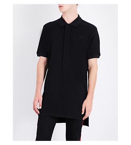 GIVENCHY Contrast-panel cotton-piqué polo shirt (Black