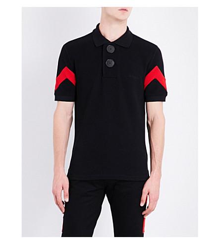 GIVENCHY Oversized button-detailed cotton-piqué polo shirt (Black