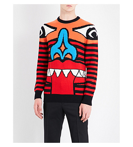 GIVENCHY Monster Face wool jumper (Black