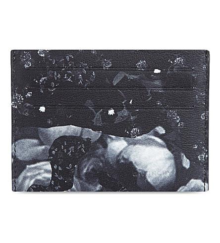 GIVENCHY Rose camo print card holder (Black