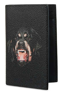 GIVENCHY Black rottweiler card holder