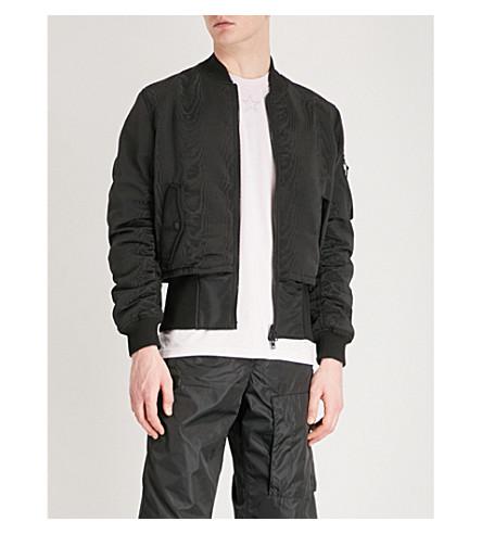 GIVENCHY Leather logo shell bomber jacket (Black
