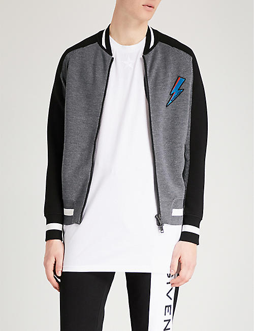 GIVENCHY Logo-patch wool bomber jacket