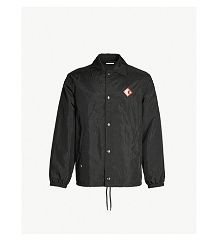GIVENCHY Logo-print shell jacket (Black