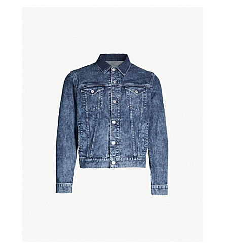 GIVENCHY Bleached denim jacket (Blue