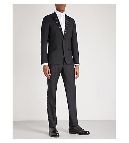 GIVENCHY Stud embellished modern-fit wool-blend suit (Black