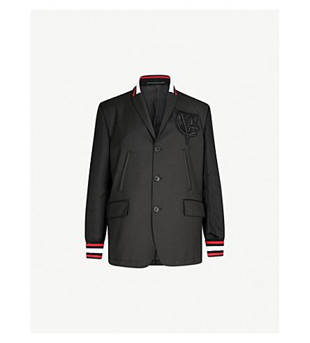 GIVENCHY Bomber-sleeve wool-blend jacket (Black