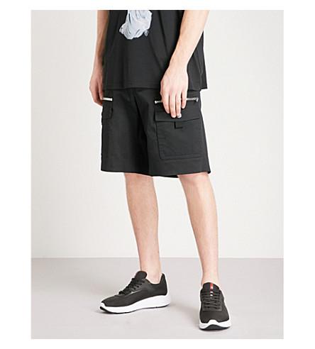 GIVENCHY Cargo-pocket cotton-twill shorts (Black