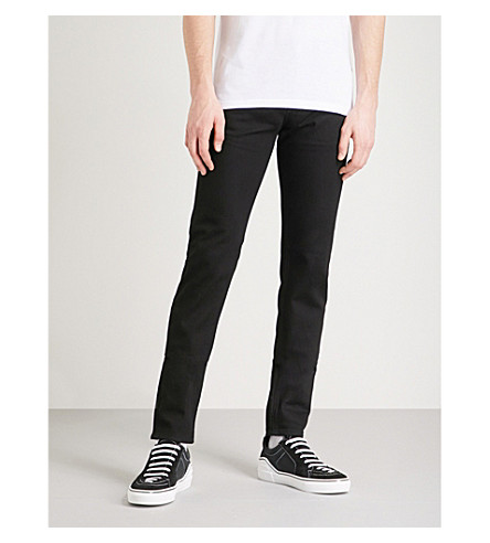 GIVENCHY Star-appliquéd slim-fit skinny jeans (Black