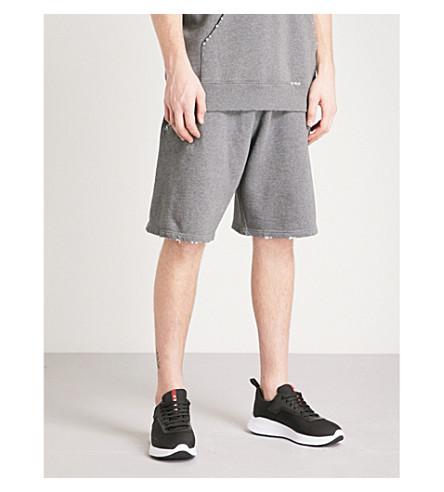 GIVENCHY Logo-patch cotton-jersey shorts (Grey