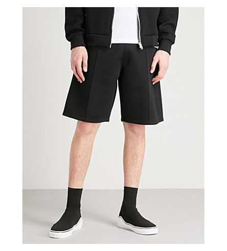 GIVENCHY Stitched-detail neoprene shorts (Black