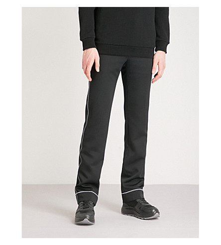 GIVENCHY Top-stitch woven jogging bottoms (Black