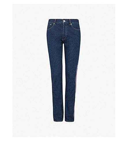 GIVENCHY Logo side-stripe slim-fit tapered jeans (Blue