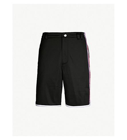 GIVENCHY Side-stripe sports-jersey shorts (Black