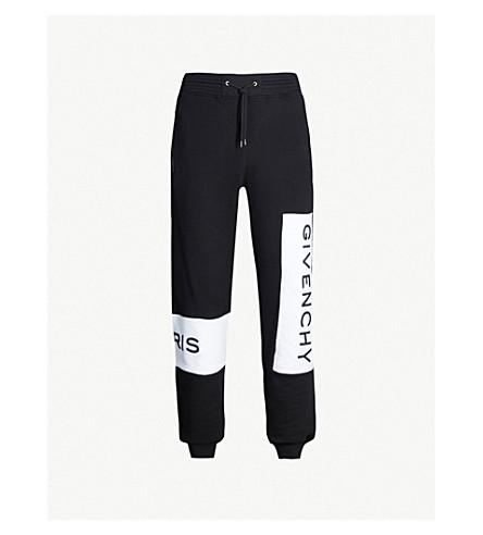 GIVENCHY Logo-print cotton track pants (Black