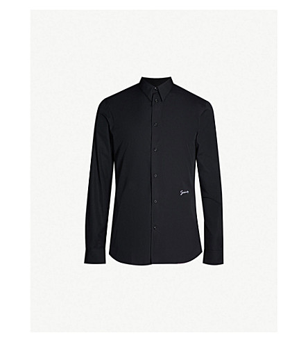 GIVENCHY Signature slim-fit cotton shirt (Black white