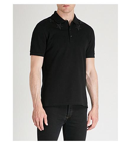 algodón aplique de Polo con piqué negro GIVENCHY y CIqxwtxE