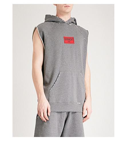 GIVENCHY Logo-patch cotton-jersey sweatshirt (Grey