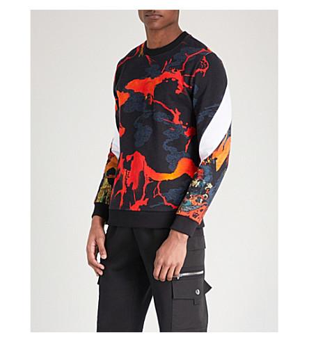GIVENCHY Hells Fire cotton-jersey sweatshirt (Orange