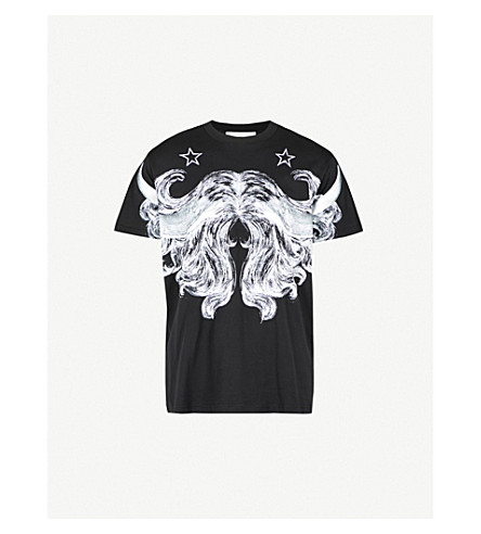 GIVENCHY Hair Horn cotton-jersey T-shirt (Black